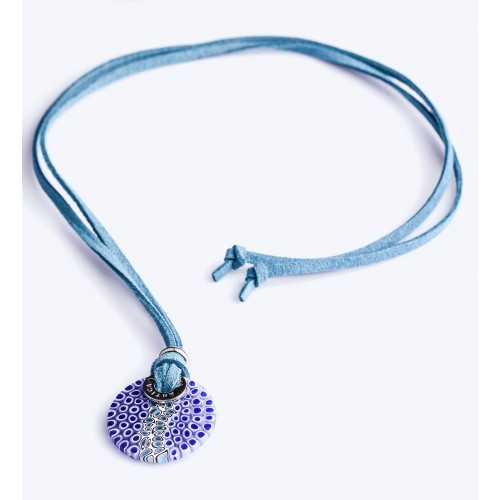 NECKLACE ASTER MAVİ