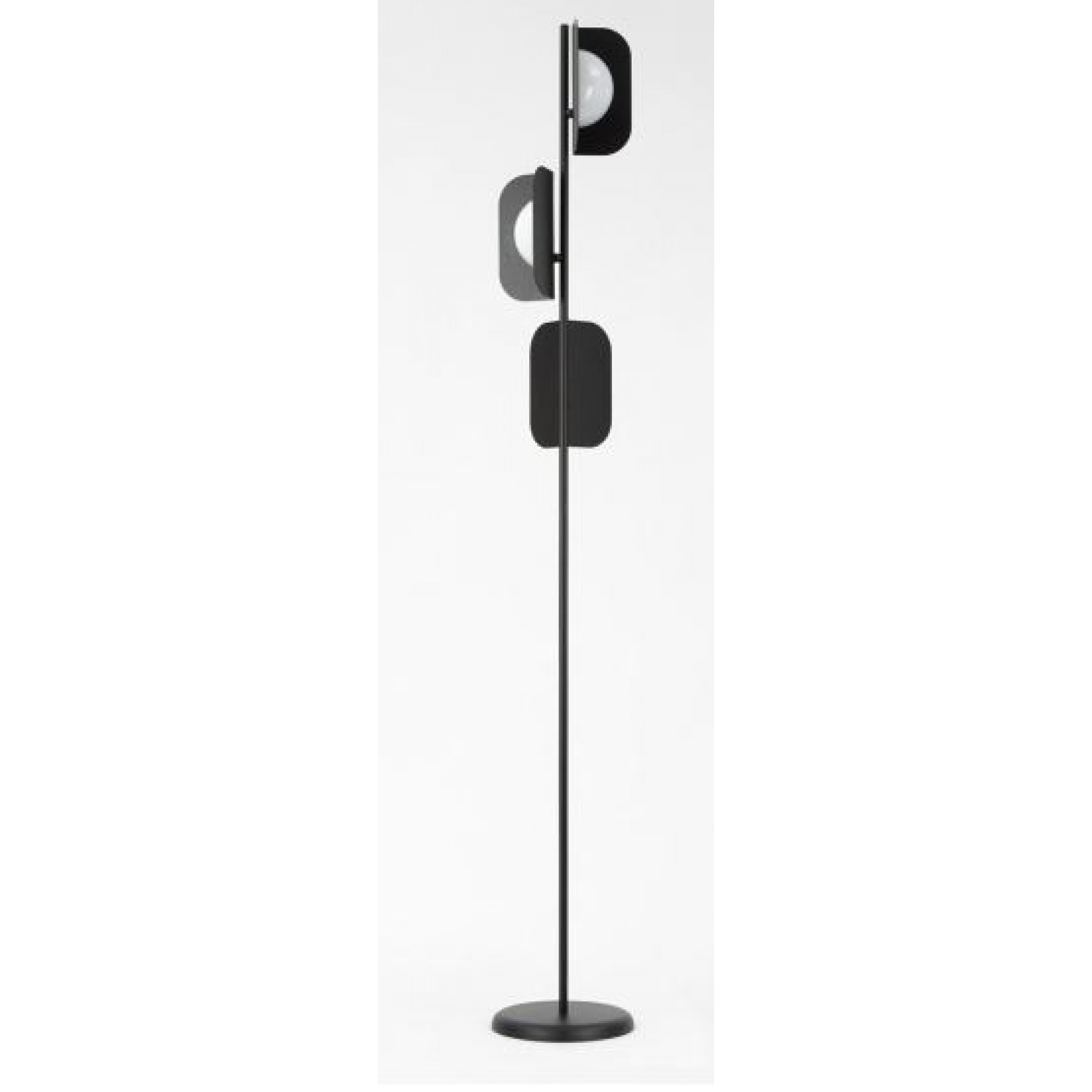 3L FLOOR LAMP WITHWHITE GLASSES D.30 H.205 V0199 m - Modern -  MM LAMPADARI