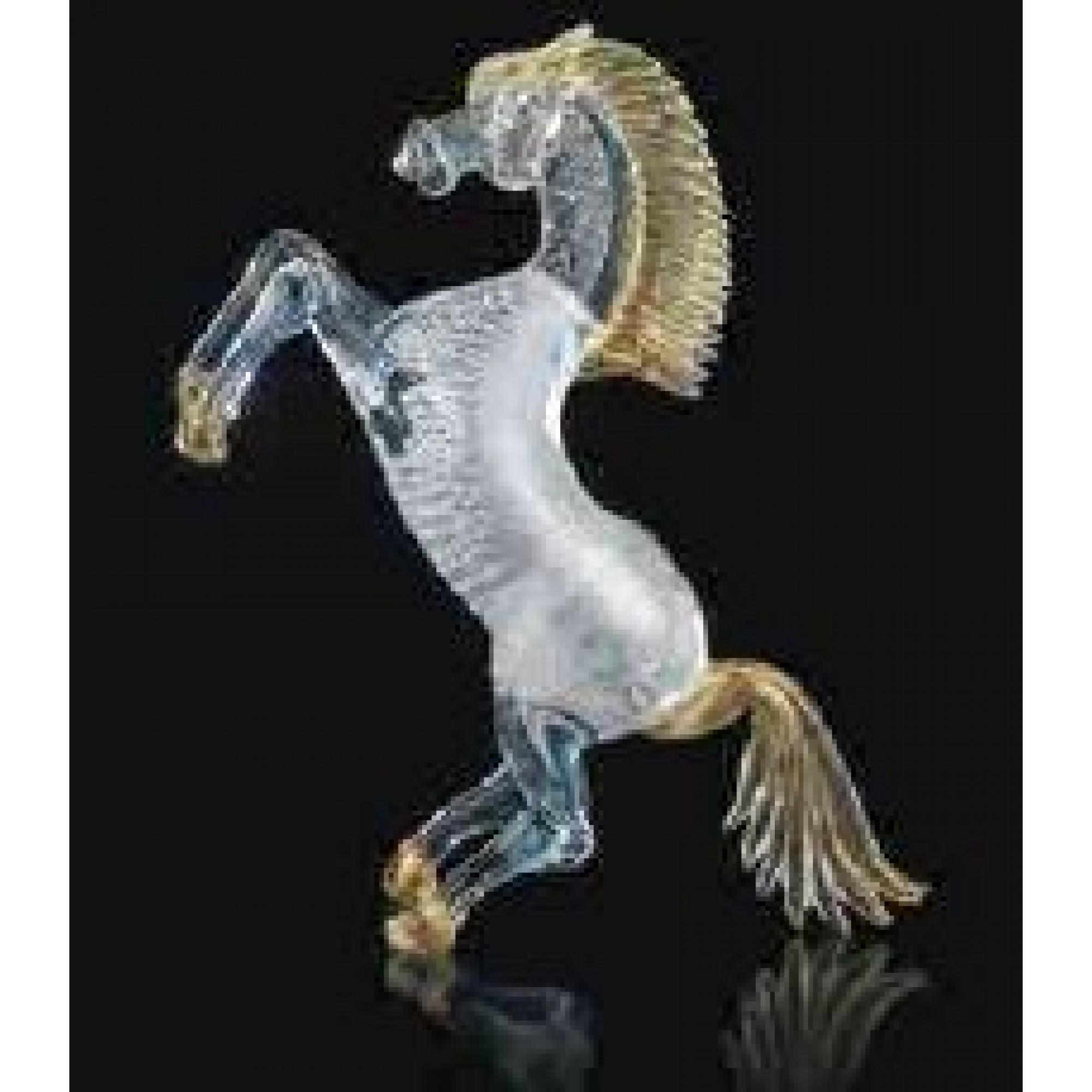 HORSE H:33cm SILVER GOLD - Murano Dekoratif Obje -