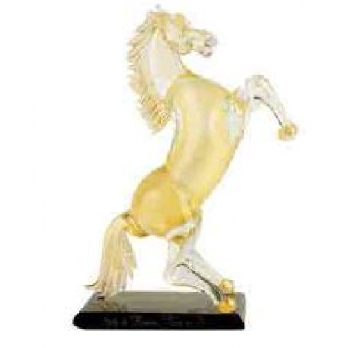 Medium Horse All Gold,With BLACK/GOLD BASE